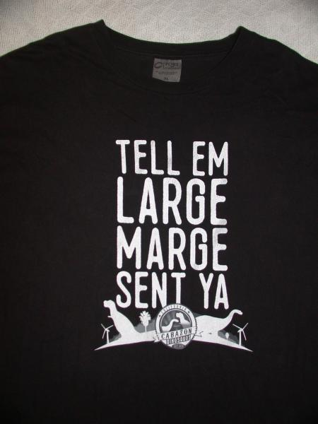 1a3959c9c Tell Em Large Marge Sent Ya Cabazon Dinosaurs CA Black S/S Tee Shirt XL PEE  WEE