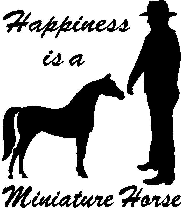 Happiness Is Miniature Mini Horse Sticker Decal