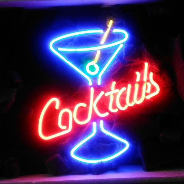 "Neon Bar Lights Amazon: 17""x14"" Cocktails Martini Glass Neon Light Sign Display"