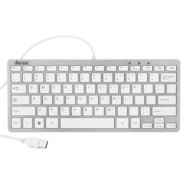 ikkegol usb slim mini keyboard compact qwerty us layout for pc laptop win 8 mac ebay. Black Bedroom Furniture Sets. Home Design Ideas