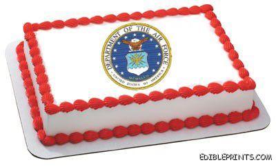 Air Force Emblem Edible Image Icing Cake Topper