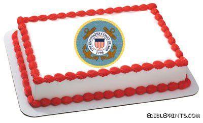 Coast Guard Emblem Edible Image Icing Cake Topper