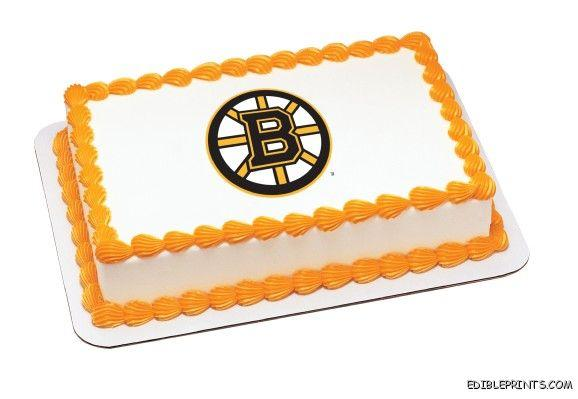 Boston Bruins Edible Image Icing Cake Topper