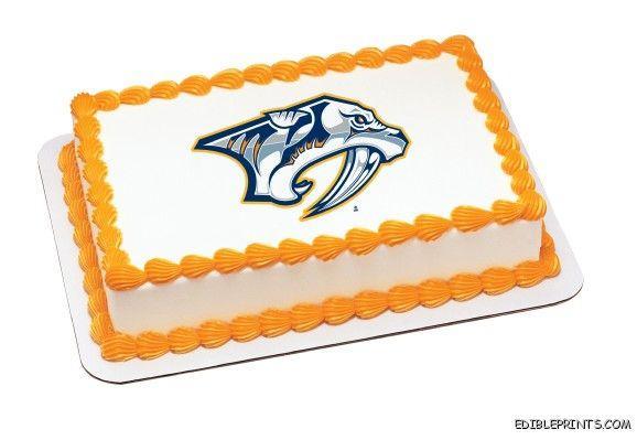 Nashville Predators Edible Image Icing Cake Topper