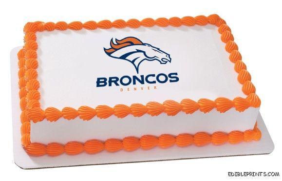 Denver Broncos Edible Image Icing Cake Topper