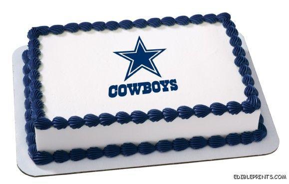 Dallas Cowboys Edible Image Icing Cake Topper