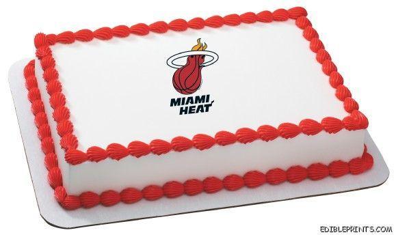 Miami Heat Edible Image Icing Cake Topper