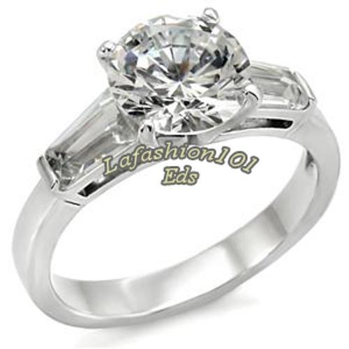 ... Popular Women's Stainless Steel Wedding/Engage ment Ring SIZE 5-10