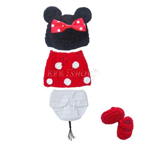 mignon mickey minnie d guisement nouveau n b b crochet tricot ensemble 0 12m. Black Bedroom Furniture Sets. Home Design Ideas