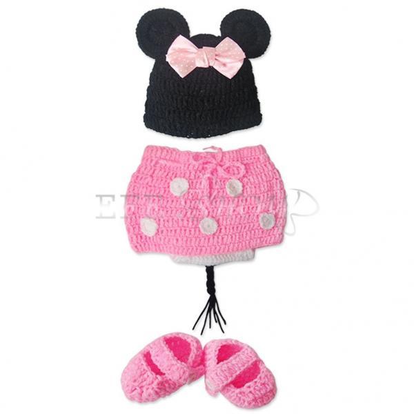 mignon mickey minnie d guisement nouveau n b b crochet tricot ensemble 0 12m. Black Bedroom Furniture Sets. Home Design Ideas