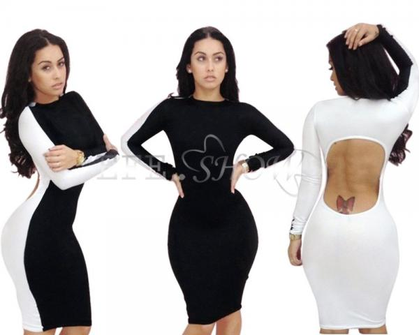 ... Sexy Club Wear Cut Out Back Bodycon Backless Party Cocktail Slim Dress