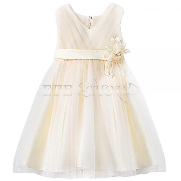 enfant fille b b princesse robe tenue de soir e mariage. Black Bedroom Furniture Sets. Home Design Ideas