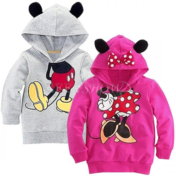 Details about new minnie mickey mouse kid boy hoodies coat baby girls