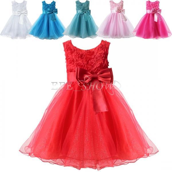 Somptueux b b enfant fille princesse robe de fleur partie mariage bapt me 0 - Armoire fille princesse ...