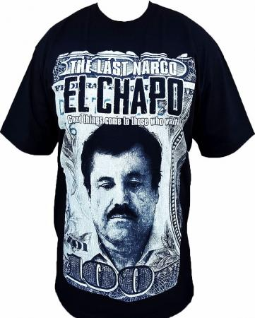 Mens el chapo guzman t shirt the last narco med 5x free for Chapo guzman shirt brand