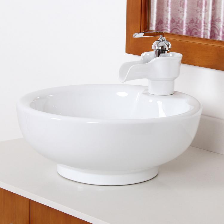 bathroom white bowl ceramic porcelain vessel sink 20030