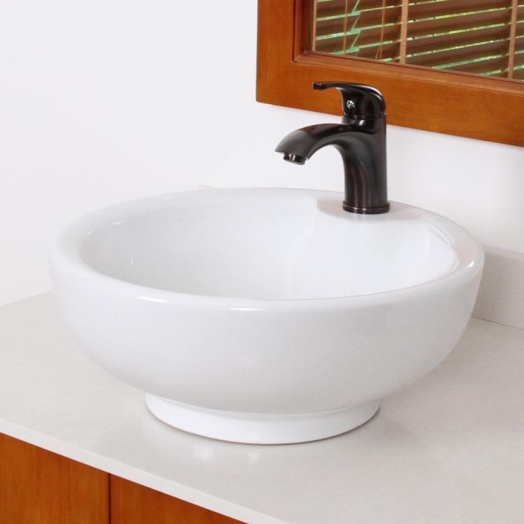 bathroom bowl ceramic porcelain vessel sink oil rubbed bronze faucet combo. Black Bedroom Furniture Sets. Home Design Ideas