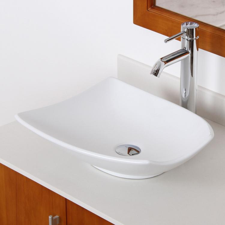 Shell Bathroom Sink : New Bathroom Shell Shape Ceramic Porcelain Vessel Sink Chrome Faucet ...