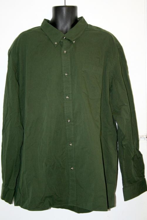 Eddie bauer green 3xl big tall mens button down long for Heavy button down shirts