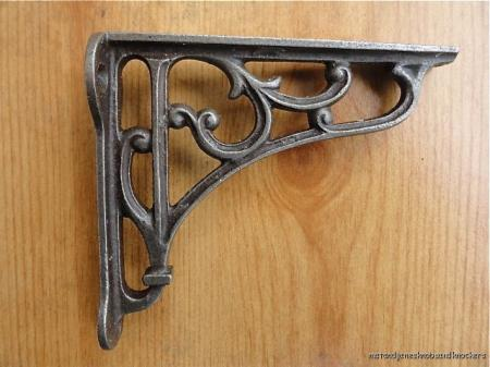 shelves weathered decorative accessories iron ef amazon h kingso forged shelf brackets com l dp wall cast bc x handcrafted shape hangers ac black pack for