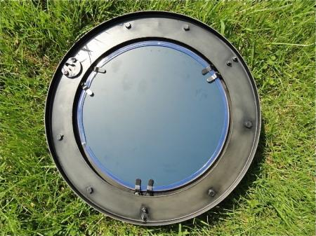 Superb vintage style metal porthole bathroom mirror boat for Porthole style mirror