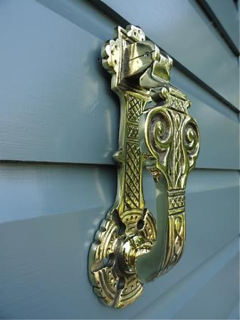 Antique style solid brass ornate gothic revival door knocker with fixings g1 - Gothic door knockers ...