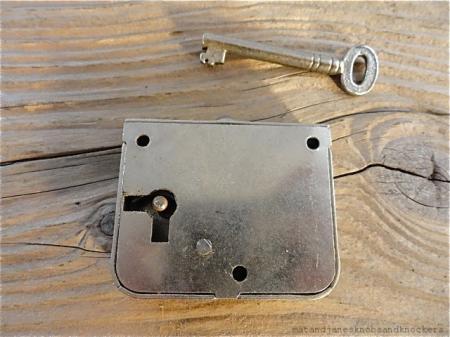 Quality english 1930 39 s wardrobe door lock with key sprung for 1930 door locks
