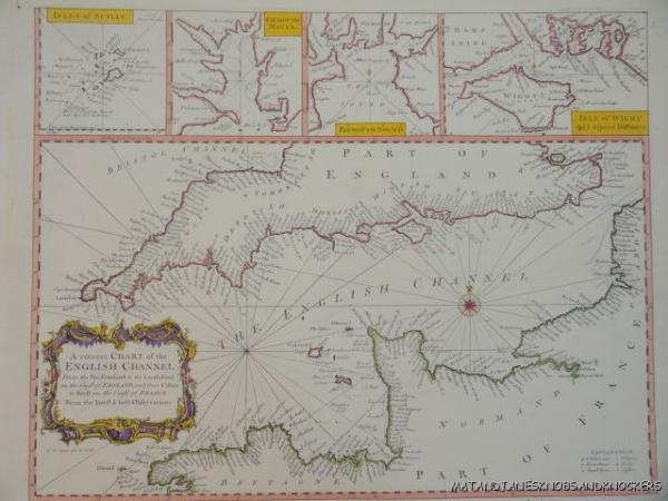 OLD COPY OF MAP MARINE CHART OF THE ENGLISH CHANNEL S EBay - Old map shop london