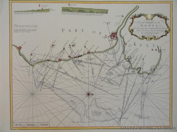 The Map Shop London.Details About Old Copy Of Map 1700 S Dover Deal Kingsdown Downs Goodwin Sands