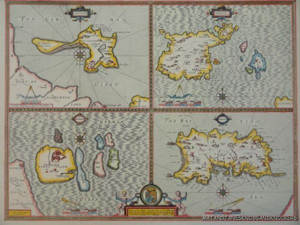 OLD COPY OF ANTIQUE MAP S CHANNEL ISLANDS JERSEY GUERNSEY JOHN - Old map shop london