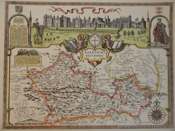 The Map Shop London.Details About Old Copy Of John Speed Map Of Berkshire Windsor Castle 1610