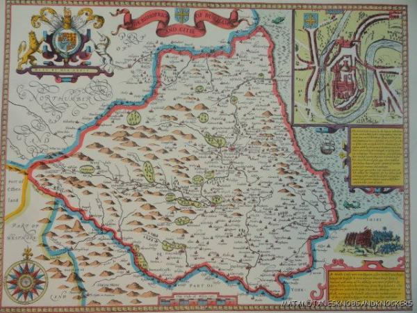 Old Copy Of John Speed 1610 Map The Bishoprick And City Of