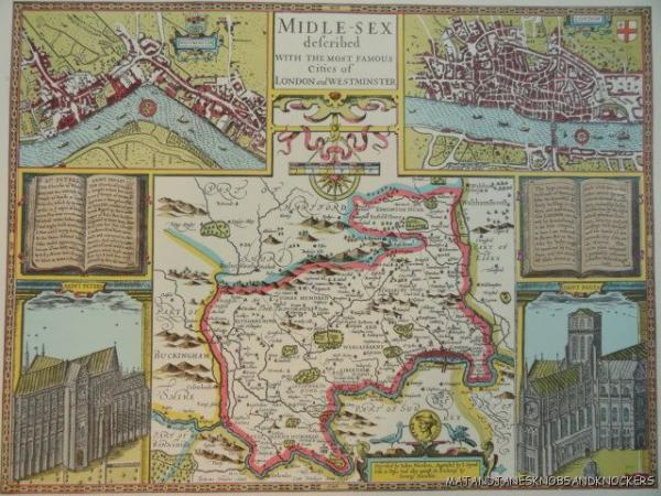 The Map Shop London.Details About Old Copy Of John Speed 1610 Map Middlesex London Westminster Town Plan