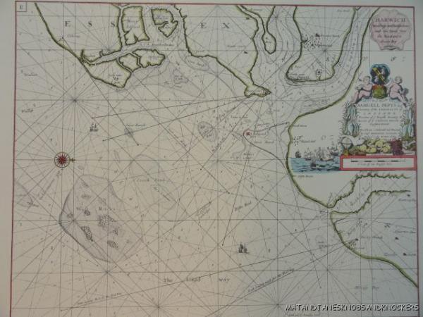 OLD COPY OF GREENVILE COLLINS MAP HARWICH ESSEX COASTLINE EBay - Old map shop london