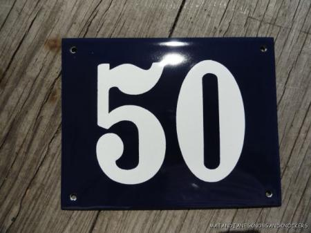 Click here to enlarge for Classic house number plaque