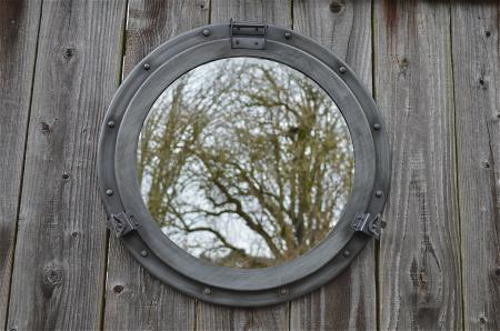 Retro style extra large steel porthole bathroom mirror for Porthole style mirror