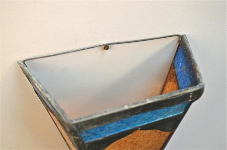 Stained Glass Wall Lamp Shades : Vintage Stained Glass Moroccan Moorish Wall Light Shade Coloured Glass Lamp R16 eBay