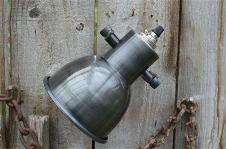 STYLISH MACHINE AGE SPOTLIGHT IN AGED STEEL FINISH LIGHT LAMP HOLDER WALL MOUNT eBay