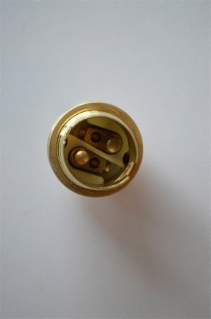 BRASS SMALL BAYONET B15 FITTING BULB HOLDER LAMP HOLDER C//W SHADE RING 10MM L5