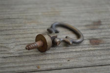 Old antique style georgian bureau loper handle screw in for Nautical bureau knobs