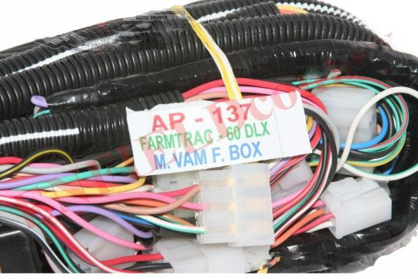Complete Wiring Harness Loom Assembly With Fuse Box Farmtrac 60 Dlx Tractor Ecs