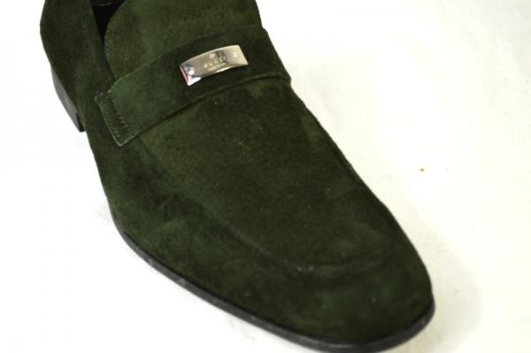 28944d0cbca GUCCI SHOES mila sandals loafers dark grass green suede 8.5   9.5. Click  here to Enlarge