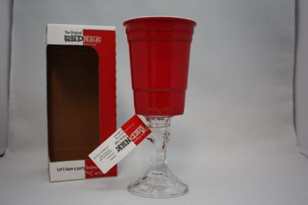 Carson The Original Rednek Party Cup Red Solo Wine Glass