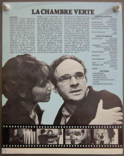 original LA FRANCOIS CHAMBRE VERTE CHAMBRE TRUFFAUT TRUFFAUT ...