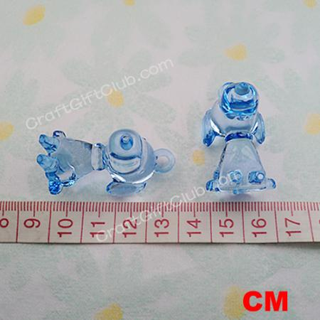 details about 20 blue snoopy dog baby shower bead decoration party
