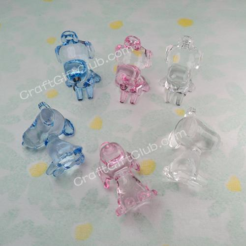 10 100 snoopy dog acrylic bead baby shower confetti decorate pink