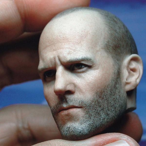 Jason Statham Head Sculpt 1//6 Scale Hollywood Star with 12/'/' Body Figure V01