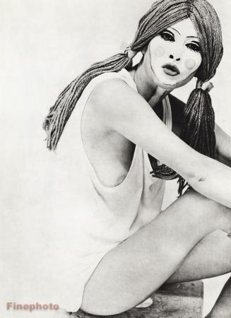 Años 60 Surrealista Mujer Desnuda Mama Muñeca Maquillaje 16x20 Moda