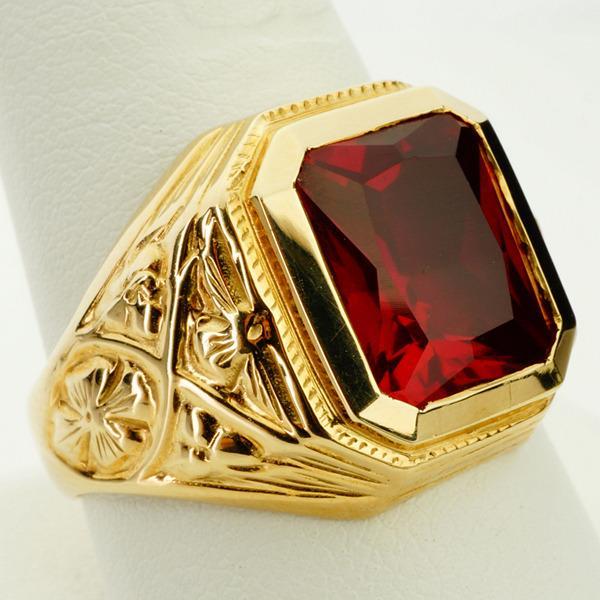 Famous Mens Rings: Mens Ruby Rings For Sale GC49