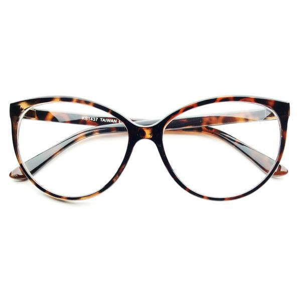 Vintage Eyeglass Frames Cat Eye : Large Clear Lens Retro Vintage Fashion Cat Eye Eye Glasses ...